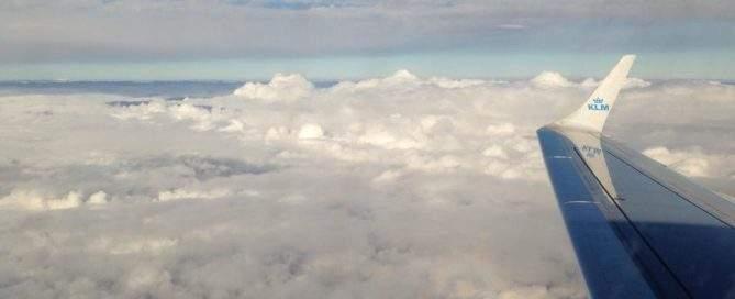 I luften mellem Billund og Amsterdam